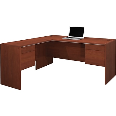 Bestar Fall Creek L-Shaped Workstation Set, Bordeaux