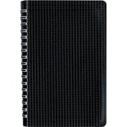 "Blueline Duraflex Poly Business Notebook, Black, Durable and Flexible Textured Cover, 160 Pages / 80 Sheets, 9-3/8"" x 6"""