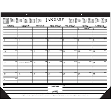 2013 Staples® Desk Pad Calendar, 22in. x 17in.