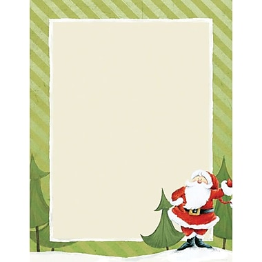 Great Papers® Holiday Stationery Jolly Santa Claus , 80/Count