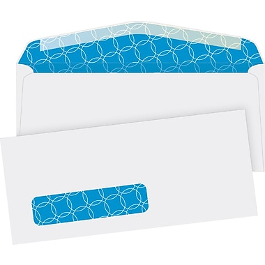 Quality Park #10, Left Window Security-Tint Gummed Envelopes, 500/Box