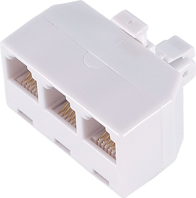 Power Gear Triplex Adapter White