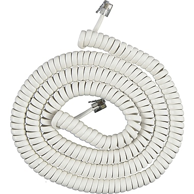 GE 12in. Coil Phone Cord (White)