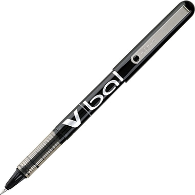 Pilot® VBall Liquid Ink Rollerball Pen, Extra Fine Point, Black, Dozen