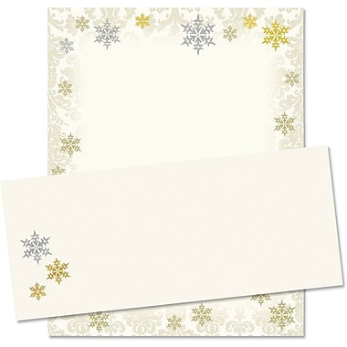 Gold and Silver Foil Flakes Stationery