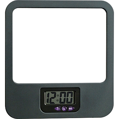 dps by Staples Verti-Go Cubicle Accessories Mirror with Digital Clock