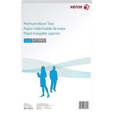 Xerox Premium Never Tear Polyester Laser Paper, 11' x 17