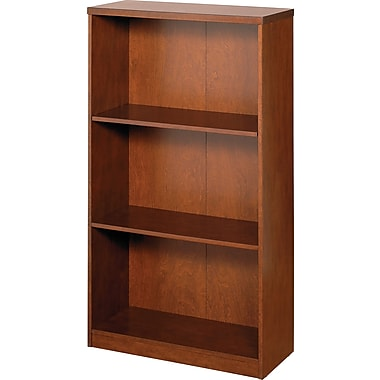 Z-Line Deluxe Wood Office Collection 3-Shelf Bookcase, Cherry