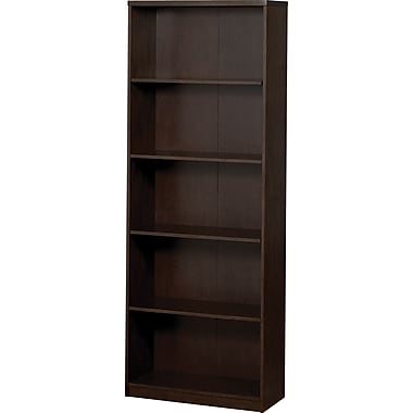 Z-Line Deluxe Wood Office Collection 5-Shelf Bookcase, Espresso