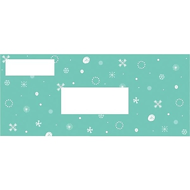 Great Papers® Holiday Card Envelopes Aqua Flakes , 50/Count