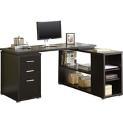 Monarch Specialties (I 7019) Reversible Storage Desk, Cappuccino