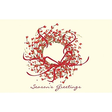 Great Papers Season's Greeting Wreath Imprintable Greeting Card