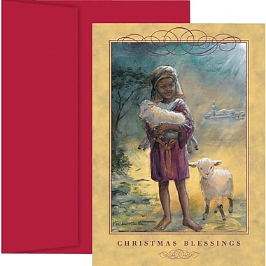 Great Papers Little Shepherd Holiday Card with Red Envelopes
