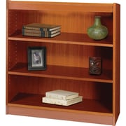 SAFCO Workspace Square Edge Veneer 3-Shelf Bookcase, Cherry
