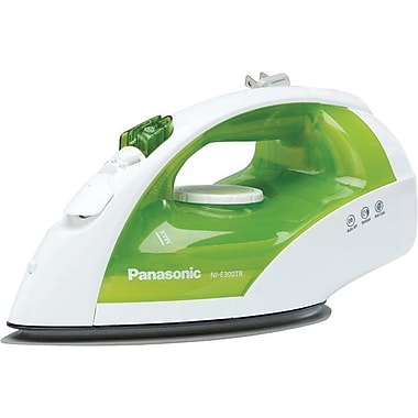 Panasonic NI-E300TR Steam/Dry Iron, White/Green