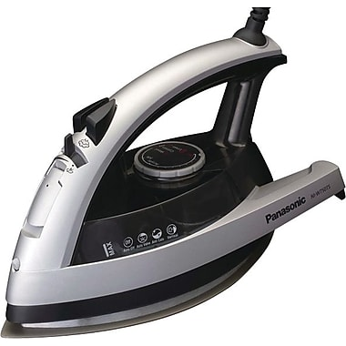 Panasonic 360° Quick™ Steam/Dry Iron, Silver/Clear Gray Tank