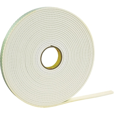 3M 4466 Double Sided Foam Tape, 1in. x 5 yds., 1/16in., 1/Pack