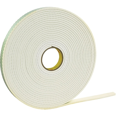 3M 4466 Double Sided Foam Tape, 1/2in. x 5 yds., 1/16in.