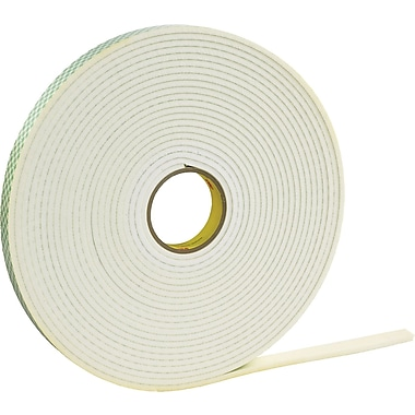 3M 4462 Double Sided Foam Tape, 1/2in. x 5 yds., 1/32in.
