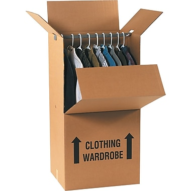 20in.(L) x 20in.(W) x 45in.(H) Staples® Wardrobe Boxes, 5/Bundle