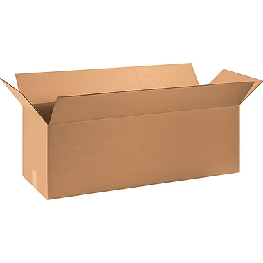 40in.(L) x 12in.(W) x 12in.(H) - Staples Corrugated Shipping Boxes, 15/Bundle