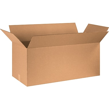 36in.(L) x 18in.(W) x 18in.(H) - Staples® Corrugated Shipping Boxes, 15/Bundle