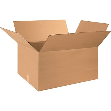 32in.(L) x 18in.(W) x 12in.(H) - Staples® Corrugated Shipping Boxes, 15/Bundle