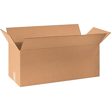 30in.(L) x 10in.(W) x 10in.(H) - Staples® Corrugated Shipping Boxes, 20/Bundle