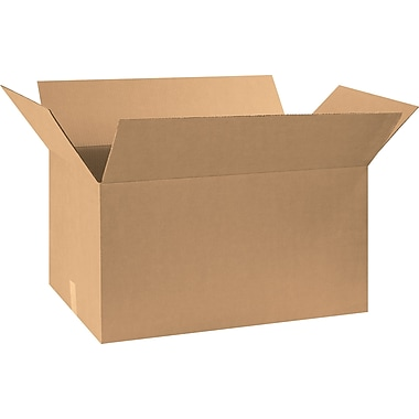 29in.(L) x 17in.(W) x 15in.(H) - Staples Corrugated Shipping Boxes, 15/Bundle