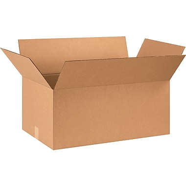 29in.(L) x 17in.(W) x 12in.(H) - Staples Corrugated Shipping Boxes, 15/Bundle