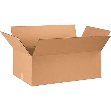 29in.(L) x 17in.(W) x 9in.(H) - Staples Corrugated Shipping Boxes, 15/Bundle