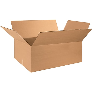 28in.(L) x 20in.(W) x 12in.(H) - Staples® Corrugated Shipping Boxes, 15/Bundle