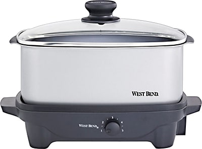 West Bend 5-Quart Oblong Slow Cooker 404155