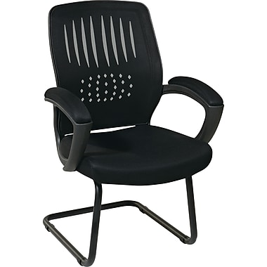 Office Star Screen Back Guest Chair, Black Mesh Seat