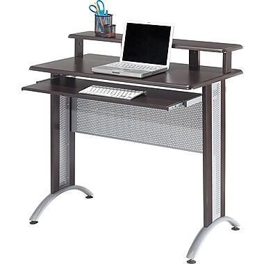 Office Star FS34 OSP Designs Fusion Computer Desk, Espresso/Silver