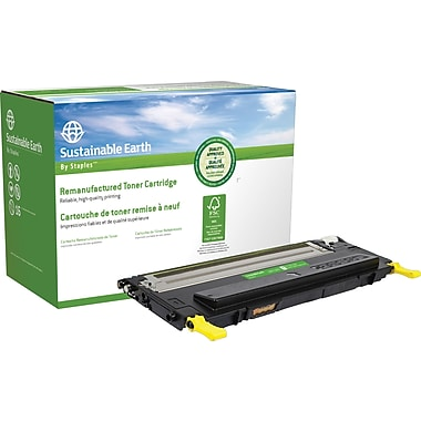 Staples™ Remanufactured Yellow Toner Cartridge, Dell 1230 (330-3013, M127K)