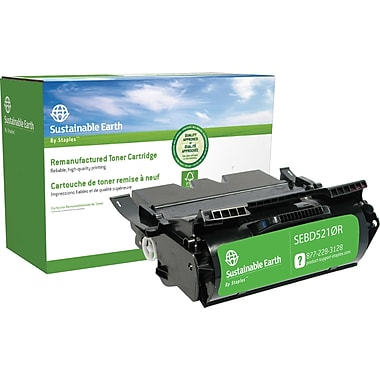 Sustainable Earth by Staples® Remanufactured Black Laser Toner Cartridge, Dell 5210N (341-2915 UG215 ), High Yield