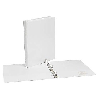 1/2in. Simply™  View Binders with Round Rings, White, 12/Pack