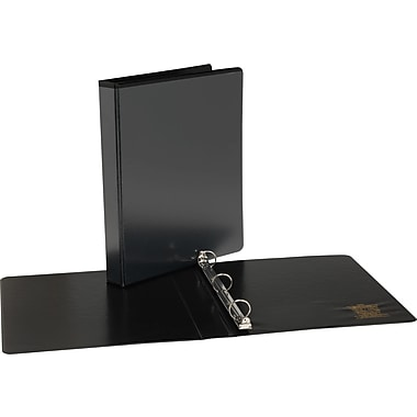 1/2in. Simply™  View Binders with Round Rings, Black