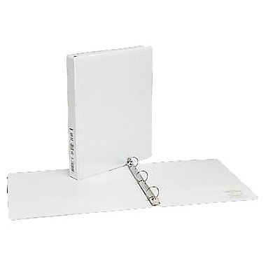 1in. Simply™ View Binders with Round Rings, White