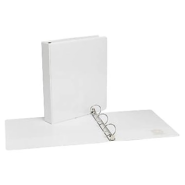 1-1/2in.  Simply™ View Binders with Round Rings, White, 12/Pack