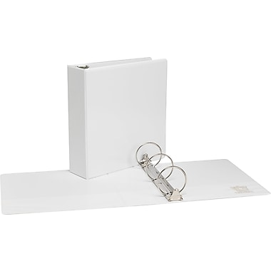 3in.  Simply™ View Binder with Round Rings, White, 6/Pack