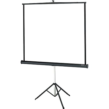 Da-Lite Versatol 71in. Portable Tripod  Projector Screen, 1:1, Black Casing