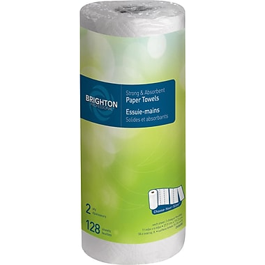 Brighton Professional™  Choose-Your-Size Paper Towel Rolls, 2-Ply, 15 Rolls/Case