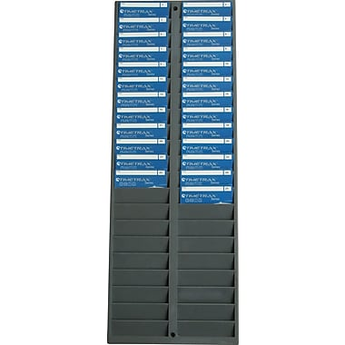 Pyramid™ 500-4 Swipe Card & Badge Rack, 40 card capacity