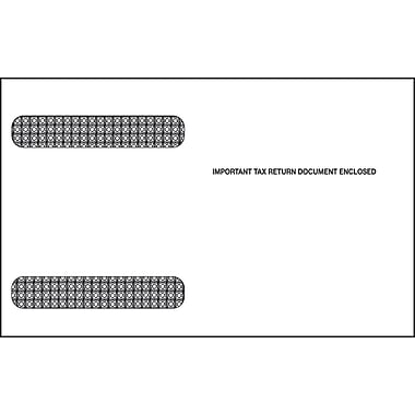 TOPS Gummed W-2 Double Window Envelope, 24 lb., White, 5 5/8in. x 9in., 100/Pack