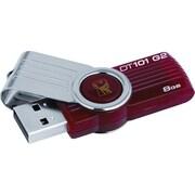 Kingston 8GB DataTraveler 101 G2 USB 2.0 USB Flash Drive (Red)