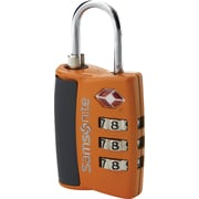 Samsonite® 3 Dial Travel Sentry Combination Lock, Juicy Orange