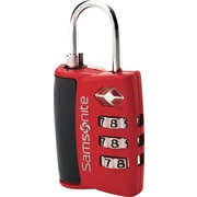 Samsonite® 3 Dial Travel Sentry Combination Lock, Red Pepper