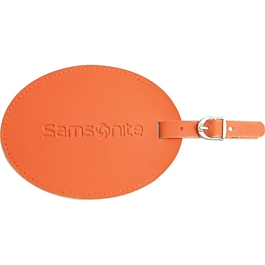 Samsonite® Large Round Vinyl ID Tag, Juicy Orange